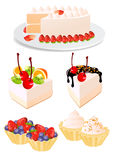 Conjunto de la torta Imagenes de archivo