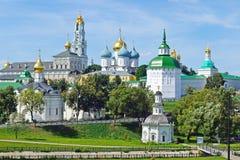 Conjunto de la trinidad santa Sergius Lavra en Sergiev Posad, Rus fotografía de archivo libre de regalías