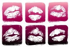 Conjunto de labios stock de ilustración