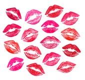 Conjunto de labios rojos hermosos Fotos de archivo libres de regalías