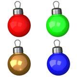 Conjunto de las bolas 3d de la Navidad Fotografía de archivo