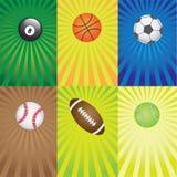Conjunto de las bolas para los juegos del deporte. Imagen de archivo libre de regalías