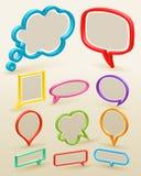Conjunto de las burbujas coloridas para el discurso ilustración del vector