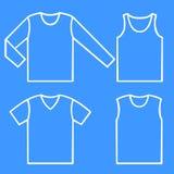 Conjunto de las camisas Fotografía de archivo libre de regalías