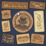 Conjunto de las escrituras de la etiqueta para el café Foto de archivo libre de regalías