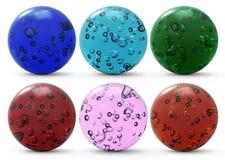 Conjunto de las esferas de cristal Imagenes de archivo