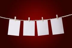 Conjunto de las etiquetas de papel Fotos de archivo