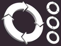 Conjunto de las flechas circulares 3D Stock de ilustración