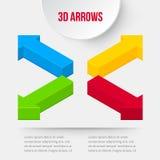 Conjunto de las flechas 3D stock de ilustración