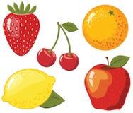 Conjunto de las frutas Imagen de archivo