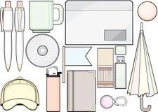 Conjunto de las fuentes y del modelo de oficina Imagenes de archivo