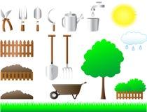 Conjunto de las herramientas para la casa y el jardín Foto de archivo libre de regalías