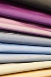 Conjunto de las materias textiles de seda Fotos de archivo libres de regalías
