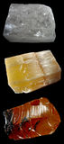 Conjunto de las rocas y de los minerales â8 Foto de archivo