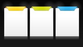Conjunto de las tarjetas verticales del vector para las opciones múltiples stock de ilustración