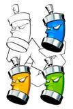 Conjunto de latas Imagen de archivo libre de regalías