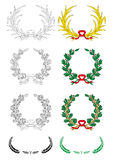Conjunto de laureles ilustración del vector