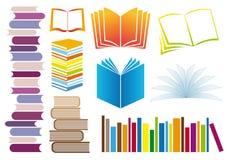 Conjunto de libros,   ilustración del vector
