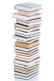 Conjunto de libros aislados en un blanco Imágenes de archivo libres de regalías