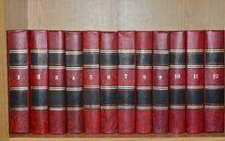 Conjunto de libros viejos fotografía de archivo