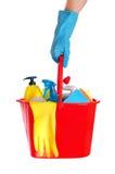 Conjunto de limpieza Foto de archivo libre de regalías