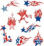 Conjunto de llamas de la estrella Imágenes de archivo libres de regalías