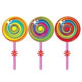 Conjunto de lollipops coloridos