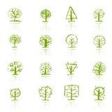 Conjunto de los árboles del bosquejo para su diseño libre illustration
