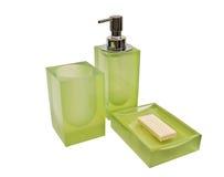Conjunto de los accesorios para un cuarto de baño Imagen de archivo libre de regalías