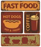 Conjunto de los alimentos de preparación rápida Imagen de archivo