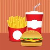 Conjunto de los alimentos de preparación rápida Imagen de archivo libre de regalías