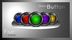 Conjunto de los botones de cristal libre illustration