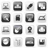 Conjunto de los botones de Ñomputer Foto de archivo libre de regalías