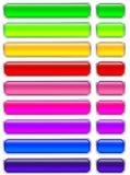 Conjunto de los botones de cristal Imágenes de archivo libres de regalías