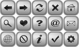 Conjunto de los botones para el hojeador de Internet Imagenes de archivo