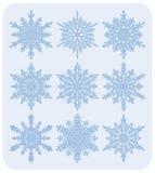 Conjunto de los copos de nieve Nr1 Foto de archivo libre de regalías