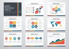 conjunto de los elementos de Infographic ilustración del vector