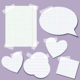Conjunto de los elementos de papel Foto de archivo libre de regalías