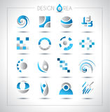 Conjunto de los elementos del diseño para su proyecto Fotografía de archivo