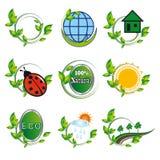 Conjunto de los elementos naturales para el diseño Fotografía de archivo