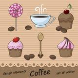 Conjunto de los elementos para el diseño Stock de ilustración
