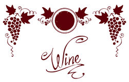 Conjunto de los elementos para una escritura de la etiqueta del vino Fotografía de archivo libre de regalías