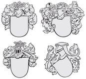 Conjunto de los emblemas aristocráticos No2 Imágenes de archivo libres de regalías