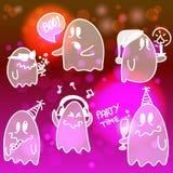 Conjunto de los fantasmas de víspera de Todos los Santos Ilustración del Vector