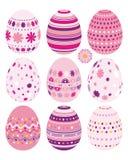 Conjunto de los huevos de Pascua Imagenes de archivo