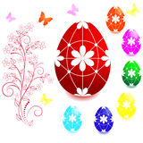 Conjunto de los huevos de Pascua. Fotografía de archivo libre de regalías