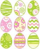 Conjunto de los huevos de Pascua Imagen de archivo libre de regalías