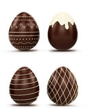 Conjunto de los huevos de Pascua Foto de archivo libre de regalías