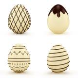 Conjunto de los huevos de Pascua Imágenes de archivo libres de regalías