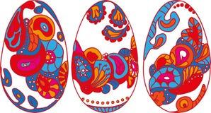 Conjunto de los huevos de Pascua Fotografía de archivo libre de regalías